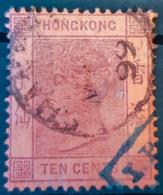 HONGKONG 1891 - Canceled - Sc# 44 - 10c - Hong Kong (...-1997)