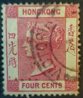 HONGKONG 1900 - Canceled - Sc# 39 - 4c - Hong Kong (...-1997)