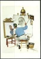 Carte Postale - Norman Rockwell - Moi Autoportraits - Éditions Curtis - TTBE - Non Voyagé - Peintures & Tableaux