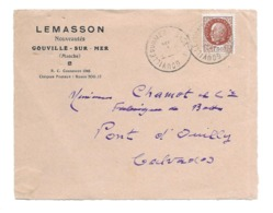 DOCUMENT Commercial ENVELOPPE De 1942.. LEMASSON, Nouveautés GOUVILLE Sur MER ( Manche 50)...Recto Seul - France