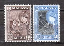Malaya Kedah 1957 Mi 88 + 90 MLH - Kedah