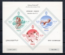 Lebanon 1961 Mi Block 24 MH SUMMER OLYMPICS ROME MH - Summer 1960: Rome