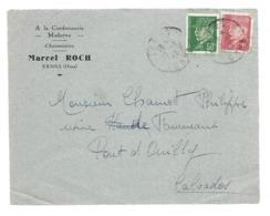 DOCUMENT Commercial ENVELOPPE De 1942..A La Cordonnerie Moderne, Chaussures Marcel ROCH à EXMES (Orne 61))...Recto Seul - France