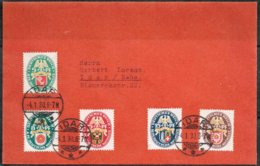 Germany - 1929 Wefare Set Mi430-434 On Cover Cancelled Idar 4.1.31 - Deutschland