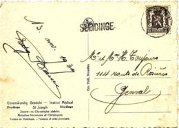 SH 0127. N° 420 GENT 10 - 1939 + GRIFFE SLEIDINGE S:CP V. GENVAL. TB - Poststempel