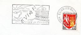 Tourisme, Evian, Congrès, Ski Nautique  - Flamme Secap - Enveloppe Entière  (V417) - Autres Collections