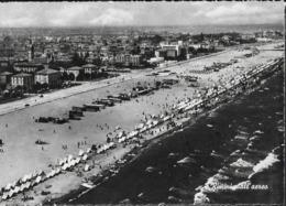 EMILIA ROMAGNA - RIMINI  - PANORAMA AEREO - VIAGGIATA 1952 FRANCOBOLLO ASPORTATO - Rimini
