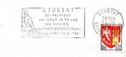 Tourisme, Etretat, Falaise, Golf,casino, Nungesser  - Flamme Secap - Enveloppe Entière  (V418) - Autres Collections