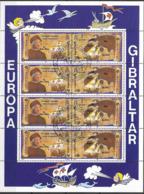1992 Gibraltar Sheet Yv. 647-50  Mi. 638-41 Used  Europa: 500. Jahrestag Der Entdeckung Von Amerika - Europa-CEPT