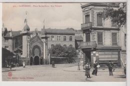 42 - ST ETIENNE -  Place Badouillère - Rue Voltaire Animée - Saint Etienne
