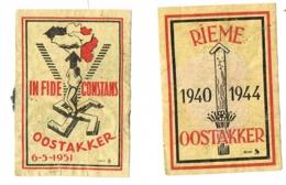 Oostakker: 1951 - Scatole Di Fiammiferi - Etichette