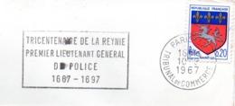 Police, Llieutenant Général, De La Reynie  - Flamme Secap - Devant D'enveloppe  (V419) - Autres Collections