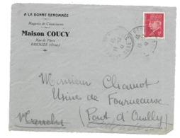 DOCUMENT Commercial ENVELOPPE 1941..A La Bonne Renommée, Chaussures, Maison COUCY à BRIOUZE ( Orne 61)...Recto Seul - France