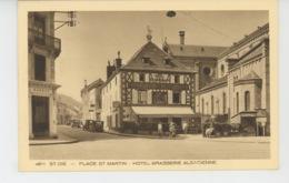 SAINT DIÉ - Place Saint Martin - HOTEL BRASSERIE ALSACIENNE - Saint Die