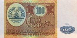 Tajikistan 100 Rubles, P-6 (1994) - UNC - Tadschikistan