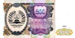 Tajikistan 200 Rubles, P-7 (1994) - UNC - Tadzjikistan