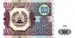 Tajikistan 500 Rubles, P-8 (1994) - UNC - Tadschikistan