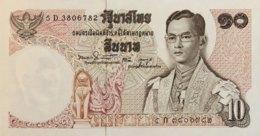 Thailand 10 Bath, P-83 (1969) - UNC - Signature 50 - Thailand