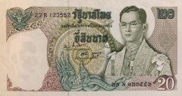 Thailand 20 Bath, P-84 (1969) - EF/XF+ - Signature 47 - Thailand
