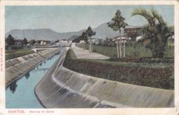 Amérique,BRAZIL,Brésil,Brasil,SAO PAULO,SANTOS,VILLE PORTUAIRE,CARTE ANCIENNE,RARE,1910,TIMBRE - São Paulo