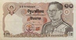Thailand 10 Bath, P-87 (1980) - Very Fine + - Signature 57 - Thailand