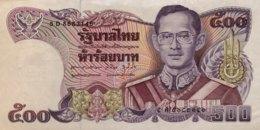 Thailand 500 Bath, P-91 (1988)- AUNC - Signature 60 - Thailand