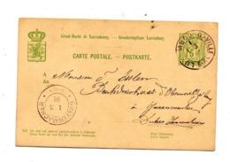 Carte Postale 5 Allegorie Cachet Luxembourg + Grevenmacher - Stamped Stationery