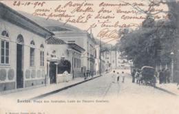 Amérique,BRAZIL,Brésil,Brasil,SAO PAULO,SANTOS,VILLE PORTUAIRE,CARTE ANCIENNE,RARE,1905,TIMBRE - São Paulo