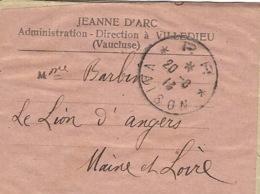 1913- Envoi Par  Cad  * P. P. * VAISON   ( Vaucluse ) Pour Le Lion D'Angers - 1877-1920: Période Semi Moderne