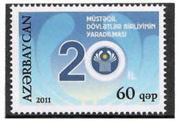 Azerbaijan 2011. CIS-20th Ann. 1v: 60. Michel # 885 - Azerbaiján