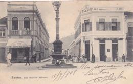 Amérique,BRAZIL,Brésil,Brasil,SAO PAULO,SANTOS,VILLE PORTUAIRE,CARTE ANCIENNE,RARE,1909,TIMBRE - São Paulo