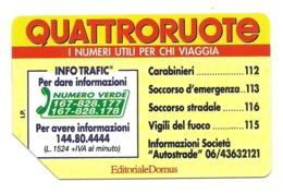 Italia - Tessera Telefonica Da 5.000 Lire N. 310 - Quattroruote - Italië