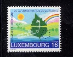 858141883 SCOTT 929 POSTFRIS MINT NEVER HINGED EINWANDFREI (XX) - EUROPEAN NATURE CONSERVATION YEAR - Luxembourg
