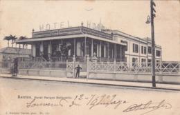 Amérique,BRAZIL,Brésil,Brasil,SAO PAULO,SANTOS,VILLE PORTUAIRE,CARTE ANCIENNE,RARE,1909,TIMBRE,HOTEL - São Paulo