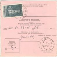 RARE- 1f CATHEDRALE RODEZ TARIF MANDAT INTERNATIONAL TAXE FACTAGE A DOMICILE 28/11/69 - Marcophilie (Lettres)