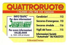 Italia - Tessera Telefonica Da 10.000 Lire N. 311 - Quattroruote - Italië