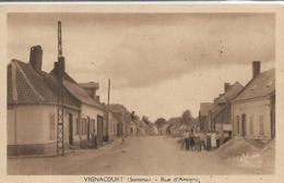 80, Somme, VIGNANCOURT, Rue D'Amien, Scan Recto Verso - Vignacourt