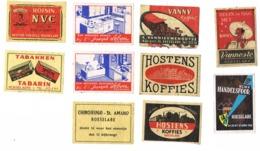 Roeselare: NCMV Handelsfoor 1956 /Koffies Vanneste/Chiroleiding St.-Amand/Vannie Koffie /Hostens Koffie /Joseph Lebon/ . - Zündholzschachteletiketten