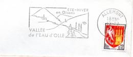 Tourisme, Oisans, Vallée De L'Eau D'Olle, Allemont - Flamme Secap - Enveloppe Entière (V422) - Autres Collections