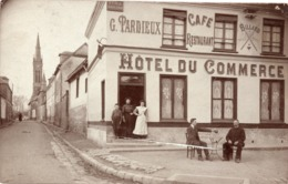 Rollot Carte Photo Hotel Du Commerce - Other Municipalities