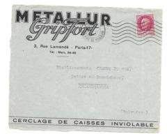 DOCUMENT Commercial ENVELOPPE 1942..Cerclage METALLUR GRIPFORT, Rue Lamanché PARIS 17e...Recto Seul - France
