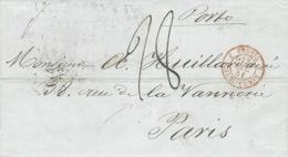 1851- Lettre De St Petersburg En Port Du  Pour Paris - - 1857-1916 Empire