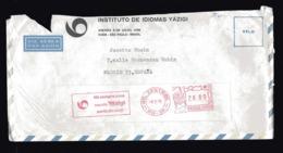 BRESIL  EMA Rouge Sur Lettre  INSTITUT DE LANGUES YAZIGI  SAO PAULO - Brazilië