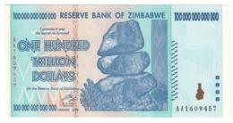 Zimbabwe 100 Trillions Dollars 2008 Pick 90 UNC (UV Checked) - Zimbabwe