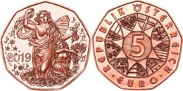 """AUSTRIA  5€ 2.019  2019  COBRE """"150 Años De La Ópera De Viena""""  SC/UNC    T-DL-12.304 - Austria"""