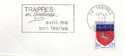 Tourisme, Trappes, Festival  - Flamme Secap - Enveloppe Entière (V426) - Autres Collections