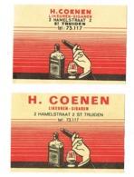 Sint-Truiden: H.Coenen - Scatole Di Fiammiferi - Etichette