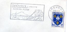 Tourisme, Trévoux, Nautisme, Pont  - Flamme Secap - Enveloppe Entière (V427) - Autres Collections