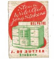 Stekene: Belpaire - Steun Wielerclub Jong Stekene - Zündholzschachteletiketten