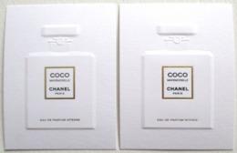 2 CARTES EN RELIEF COCO MADEMOISELLE CHANEL PARIS EAU DE PARFUM - Perfume & Beauty